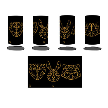 Brasero - Inspirations - Tête, Hibou, Lapin, Ours