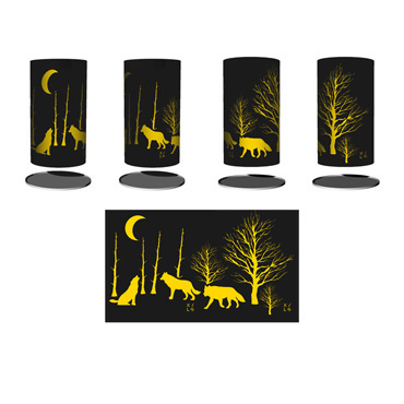 Brazier - Nature - Wolf and Moon